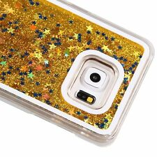 For Samsung Galaxy S7 Edge - HARD CASE Flowing Waterfall Liquid Sparkle Stars