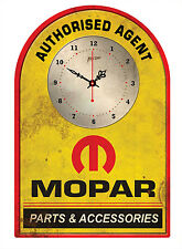 MOPAR AUTHORISED AGENT  Rustic Tin Sign Clock