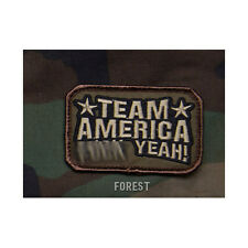 """Velcro Morale Patch - TEAM AMERICA F**K YEAH! - 3"""" x 2"""" - FOREST WOODLAND"""