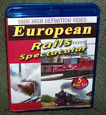 "20306 BLU-RAY HD TRAIN VIDEO BOX SET ""EUROPEAN RAILS SPECTACULAR"" 5-DISC"