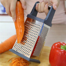 New 4 Sided Box Grater Cheese Vegetable Slicer Stainless Steel Kitchen Tool