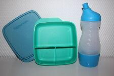 TUPPERWARE Sportfreund Flasche 415ml Clevere Pause Dose Früstukbox blau
