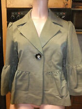 ladies jacket 1950s style Dunnes Stores sz 12/14 Green 3/4 lgth sleeve