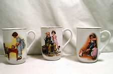 3 Norman Rockwell Mugs Cups, The Cobbler, Party Time, The Music Maker