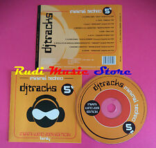 CD DJ TRACKS MINIMAL TECHNO vol 5 compilation no mc dvd vhs(C34)