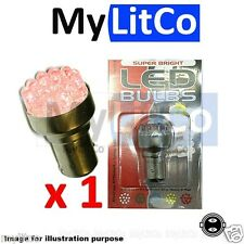 Car Rear Stop Tail Brake Dual Lights Auto LED Bulbs RED 12v BAY15D [380, P21/5W]
