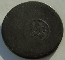 18thC Bronze Coin with Counterstamp of Figures, Countermarked 29mm, 9.63 grams