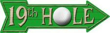 19th Hole Golf Metal Novelty Directional Arrow Sign