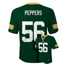 (2016-2017) Green Bay Packers JULIUS PEPPERS nfl Jersey YOUTH KIDS BOYS (xl)