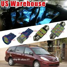 15-pc Aqua Ice Blue LED Lights Interior Package Kit For Toyota Sienna 2004-2016