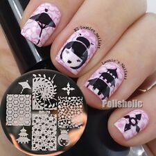 BORN PRETTY Oriental Cherry Japan Nail Art Stamping Template Image Plate BP78