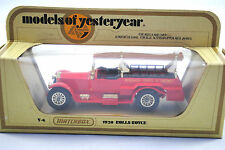 Matchbox of Yesteryear No:Y-6 1920 ROLLS-ROYCE FIRE ENGINE Ladder in Red MIB
