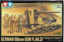 "1/48 Tamiya 37009  German 88mm Gun Flak37 - ""Siege of Tobruk"" Model Kit"