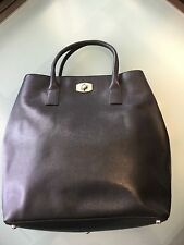 FURLA BAG bag LEATHER NAVY tote  blacks Woman