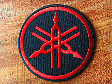 Red YAMAHA Iron On Patch & Sew Motorcycle Motocross Biker Scooter Racing