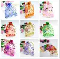 25/50/100pcs  Jewellery Pouches Packing Organza Gift Bags Wedding Party