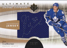 11-12 UD Ultimate Joe Colborne /50 Auto Jersey Debut Threads Upper Deck