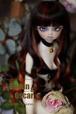1 4 7-8 Dal BJD SD MSD Wig MDD DOD LUTS DOC Dollfie Doll Long Brown Curly wigs