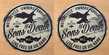 2x Hardcore Aufkleber Sticker vintage Biker Son of Death Thunder Killer NEU M015