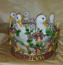 FITZ & FLOYD 12 DAYS OF CHRISTMAS SIX GEESE A LAYING CACHEPOT ''NEW''