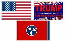 3x5 Donald Trump & USA American & State of Tennessee Wholesale Set Flag 3'x5'