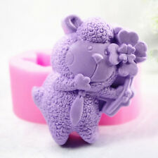 Flower Bear S326 Silicone Soap molds Craft Molds DIY Handmade soap mould