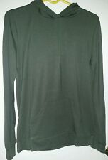 forever 21 olive hooded pullover sz M