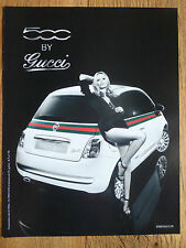 Advertising Publicité FIAT 500 by GUCCI 2011 NATASHA POLY