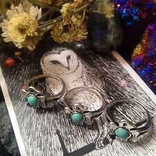 Tribal Eagle Antique Silver Ring. Featuring Turquoise. Boho-southwestern Design.