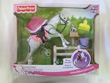 NEW Fisher Price Loving Family Dollhouse JUMPING PONY LILY GRAY w/ SOUNDS 2001