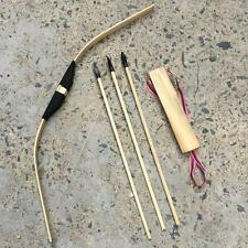 Children/Kid Archery Role Play 3 Arrows &  Quiver & Wooden Safe Bow Set/Ki ZAW
