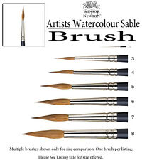 Winsor & Newton Artists Water Colour Sable Brush - Pointed Round #7 5068007