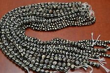 "12 STRANDS ASSORT BUFFALO BONE ROUND BEADING BEADS 16"" #740"