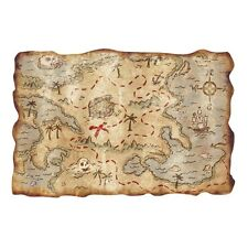 "1 Party Fun Decoration Prop Favor PIRATE TREASURE MAP Buried Treasure 12""x18"""
