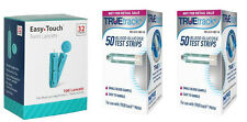 100 TRUEtrack Blood Glucose Test Strips + 100 Easy Touch 32-gauge lancets