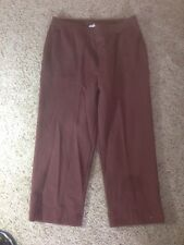NIKE Ladies womens L Large 12 14 capri capris crop pants golf Maroon/Red Ked