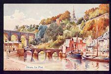 cpa Illustration Signée E. LESSIEUX Bretagne 22 - DINAN (Côtes d'Armor) Le PORT