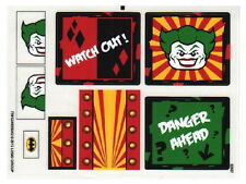 STICKERS Lego Batman 6857 The Dynamic Duo Funhouse Stickers Only NEW Original