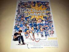 """500 DAYS OF SUMMER PP SIGNED 12""""X8"""" POSTER JOSEPH G LEVITT ZOOEY DESCHANEL"""