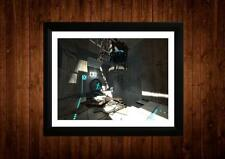 PORTAL 2 FRAMED A4 PRINT GIFT IDEAS RETRO VINTAGE GAME ART
