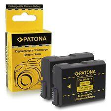 x2 batterie enel14 per nikon professional reflex DF patona 1030 mah
