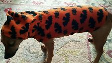 DOG FLEECE JACKET BATS & SPIDERS SIZE S. FANCY DRESS FREE UK P&P