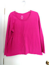 Cute and Comfortable Hot Pink PJ Top Tunic Blouse Sz 1X by JMS Just My Size