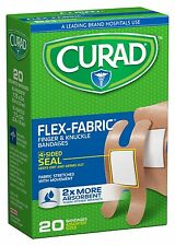Curad Flex-Fabric Fingertip, Knuckle Bandages, 20 Count