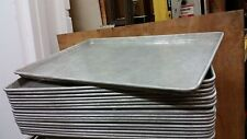 17 heavy aluminum Sheet Baking bread Pans 18 x 26 dough warming proofer cabinet