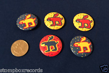 LOT of(5)Keith Haring Reindeer ART Christmas PIN BUTTON Pop Shop NY New York
