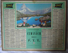 calendrier  Almanach des  PTT année 1962- Anniversaire -Cadeau -mariage-dept 78