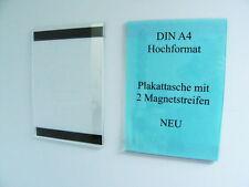 10 DIN A 4 MAGNET PLAKATTASCHE PLEXI PREISSCHILDER NEU 2x MAGNETSTREIFEN FLYER