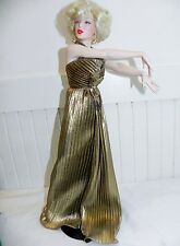 Marilyn Monroe Franklin Mint Porcelain Portrait Doll Gentlemen Prefer Blondes