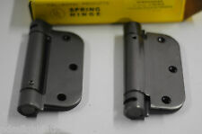 """SPRING Hinge Set 3.5"""" X3.5""""  Nickel Oxidized Relieved Cal-Royal SH-3558R 2 sets"""